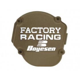 Couvercle de carter d'embrayage BOYESEN Factory Racing alu couleur magnésium Kawasaki KX450