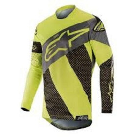 RACER TECH ATOMIC JERSEY BLACK YELLOW FL