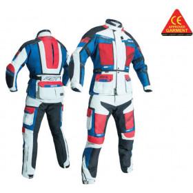 Pantalon textile RST Adventure CE glace/bleu/rouge taille S femme
