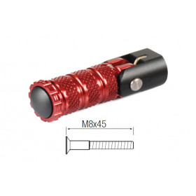 Repose-pieds repliables LIGHTECH M8X45 rouge