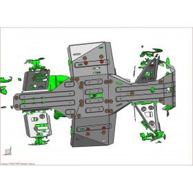 Kit Sabot complet RIVAL alu Polaris Sportsman 450/570