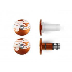 Embouts de guidons S3 End 5 Ø14mm orange