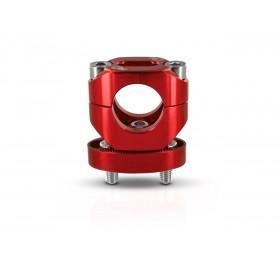 Pontets de guidon S3 ajustables hauteur +13mm rouge