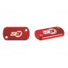 Couvercle de maître-cylindre S3 rouge AJP