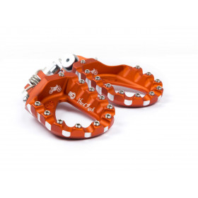 Repose-pieds S3 Hard Rock Enduro aluminium orange