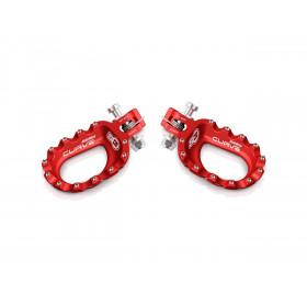 Repose-pieds S3 Curve aluminium rouge