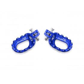 Repose-pieds S3 Curve aluminium bleu