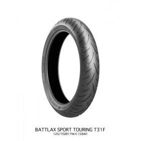 Pneu BRIDGESTONE BATTLAX T31 FRONT G VERSYS 120/70 ZR 17 M/C (58W) TL