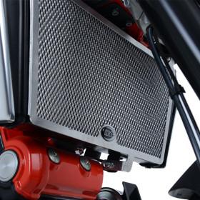 Protection de radiateur R&G RACING noir Aprilia Shiver 900