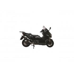 Ligne complète YASUNI acier/silencieux inox noir/casquette carbone Yamaha T-Max 530