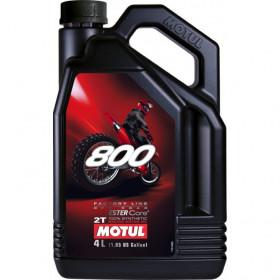 Huile moteur MOTUL 800 2T 100% synthèse 4L