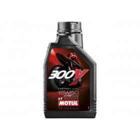 Huile Moteur MOTUL 300V Factory Line Road Racing 4T 15W50 100% synthèse 1L