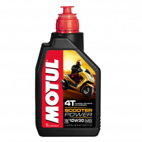 Huile moteur MOTUL Scooter Power 4T 10W30 100% synthèse 1L
