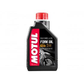 Huile de fourche MOTUL Fork Oil Factory Line 5W 100% synthèse 1L
