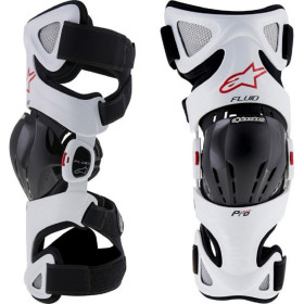 FLUID PRO KNEE BRACE SET WHITE BLACK RED