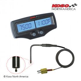 Compteur double EGT-02R KOSO compte-tours & temperature moteur capteur rapide