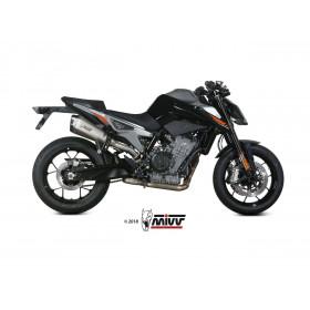 Silencieux MIVV Delta Race inox/casquette carbone KTM Duke 790