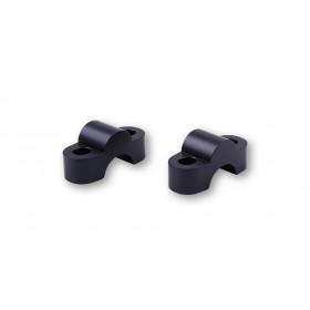 Pontets de guidon LSL Ø22,2mm +15mm noir
