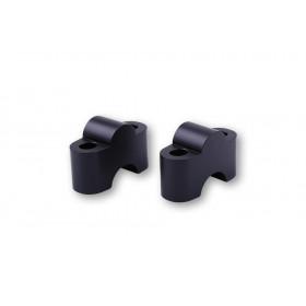 Pontets de guidon LSL Ø22,2mm +25mm noir