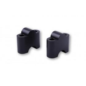 Pontets de guidon LSL Ø22,2mm +35mm noir