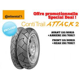 Train de pneus Trail CONTINENTAL ContiTrailAttack 2  (110/80R19 + 150/70R17)