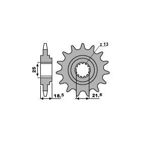Pignon PBR 15 dents acier anti-bruit pas 520 type 2119