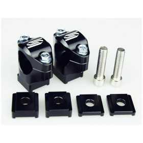 Pontets de guidon SCAR Ø28.6mm +35 à 50mm té de fourche origine
