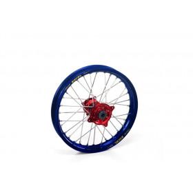 Roue avant Haan Wheels 21x1,60x36t jante bleue / moyeu TITANE Yamaha YZ250F/YZ450F