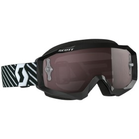 GOGGLE HUSTLE MX BLACK/WHITE SILV CHR WK
