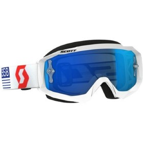 GOGGLE HUSTLE MX WHITE/RED EL BL CHR WK