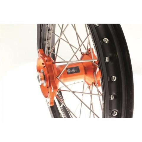 Kit roues complètes avant + arrière ART MX 21x1,60/19x2,15 jante noir/moyeu orange KTM
