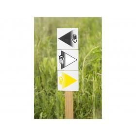 Flèches de signalisation S3 jaune 50 pièces 12x12cm