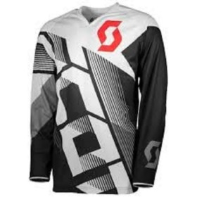 JERSEY 350 DIRT BLACK/WHITE M