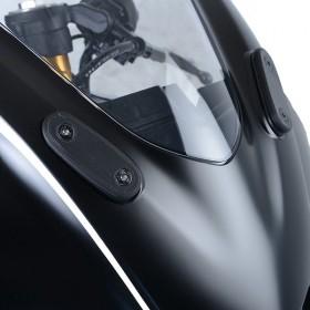 Cache orifice rétroviseur R&G RACING noir Yamaha YZF-R125
