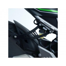 Kit suppression repose-pieds arrière R&G RACING noir Kawasaki Z125/Ninja 125