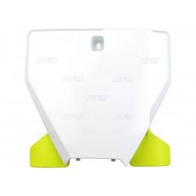 Plaque frontale UFO blanc/jaune Husqvarna TC/FC