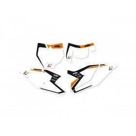 Fonds de plaque BLACKBIRD Graphic blanc KTM