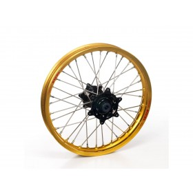 Roue avant complète HAAN WHEELS 21x2,15x36T jante or/moyeu or/rayons argent/têtes de rayons argent Honda CRF Africa Twin