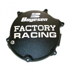 Couvercle de carter d'embrayage BOYESEN Factory Racing alu noir Kawasaki KX125