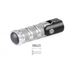 Repose-pieds repliables LIGHTECH M8x20 argent