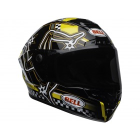 Casque BELL Star Mips Isle Of Man Gloss Black/Yellow taille XL