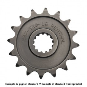 Pignon RENTHAL 13 dents acier standard pas 428 type 428
