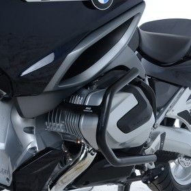 Protections latérales R&G RACING noir BMW R1250RT