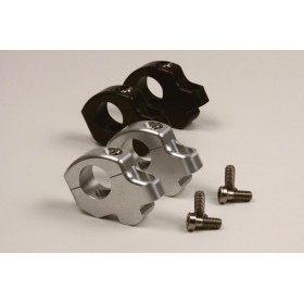 Pontets décalés LSL Ø28,6mm hauteur +25mm/déport +16mm noir