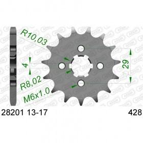 Pignon AFAM 15 dents acier standard pas 428 type 28201