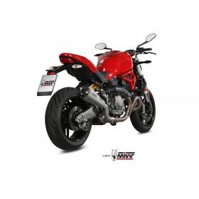 Silencieux MIVV Delta Race inox brossé/casquette carbone Ducati Monster 821