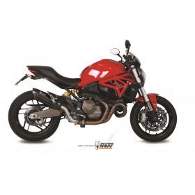 Silencieux MIVV Suono Steel Black/casquette carbone Ducati Monster 821/1200