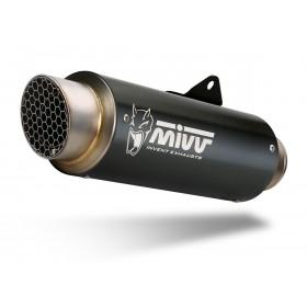 Silencieux MIVV GP Pro Steel Black/casquette inox Ducati Monster 1200