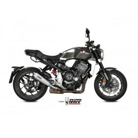 Silencieux MIVV Delta Race inox brossé/casquette carbone Honda CB1000R