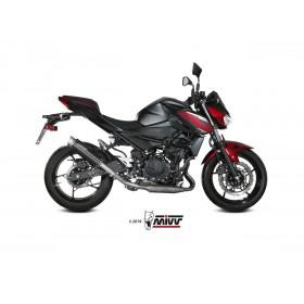 Silencieux MIVV GP Pro Steel Black/casquette inox Kawasaki Ninja 400